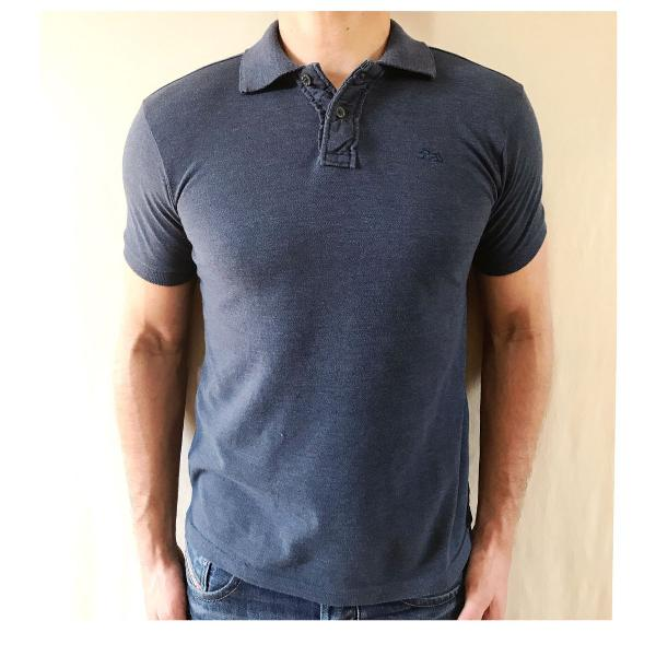 Tng - camiseta polo azul masculina