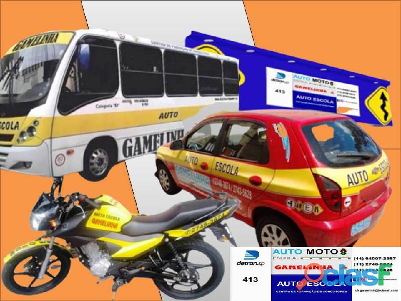 Auto Moto Escola Gamelinha trabalha na formação de condutores. 12