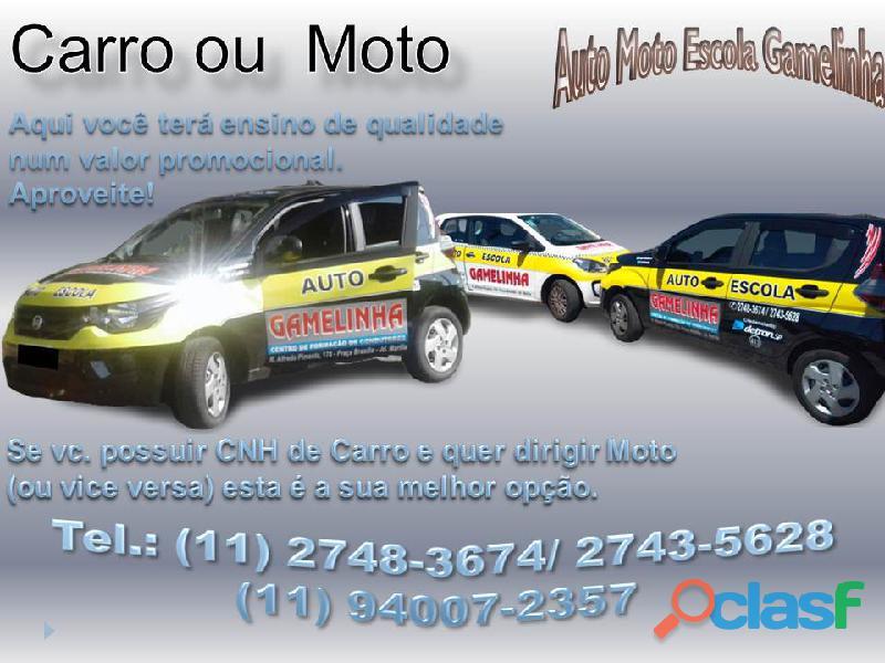 Auto Moto Escola Gamelinha trabalha na formação de condutores. 15
