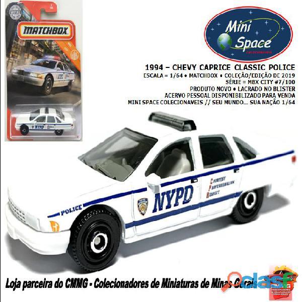 Matchbox 1994 chevy caprice classic polícia 1/64