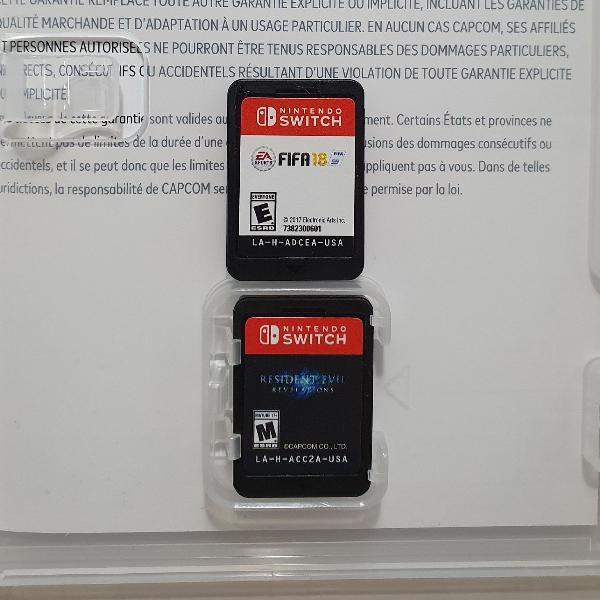 2 jogos mídia física para nintendo switch! resident evil