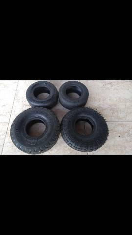 4 pneus para kart aro 4 em ótimo estado só