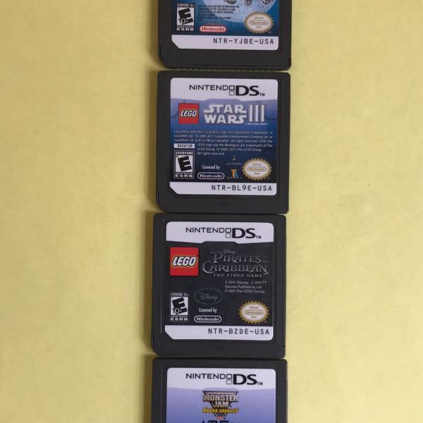 4 jogos nintendo ds
