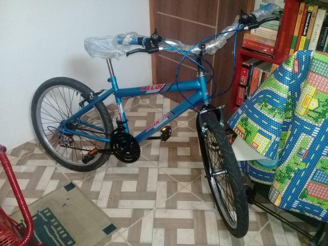 Bicicleta caloi nova aro 24.valor 280reais fone. * chapada
