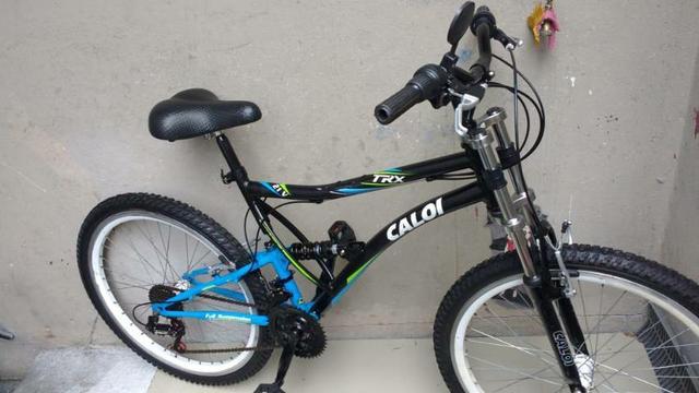 Bicicleta aro 26 caloi 21 marchas vmax cubo roletado