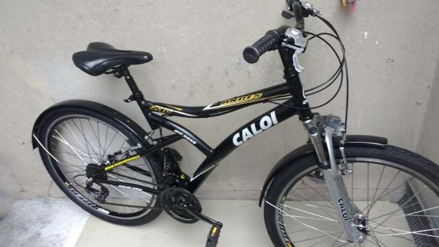 Bicicleta aro 26 caloi andes 21 marchas folha aero cubo