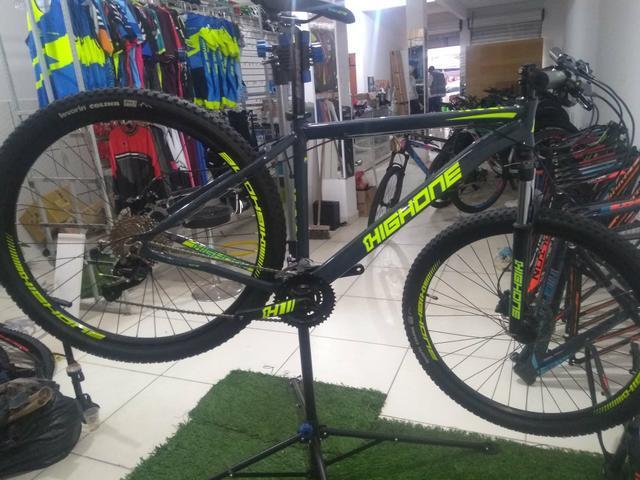 Bicicleta highone 27 velocidades freio hidráulico