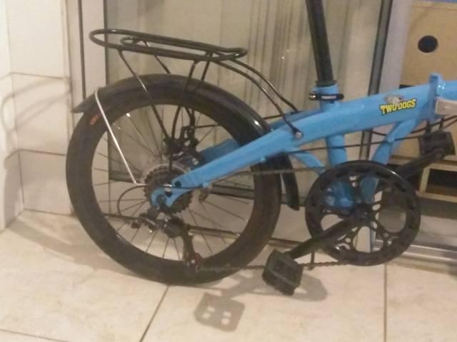 Bike two dogs pliage dobrável azul