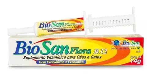 Biosan flora b12 bisnaga 14g com probióticos e prebióticos