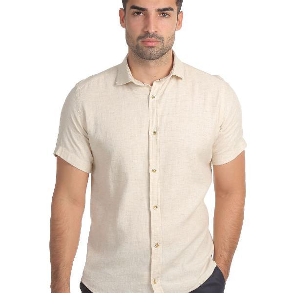Camisa masculina linho com liocel
