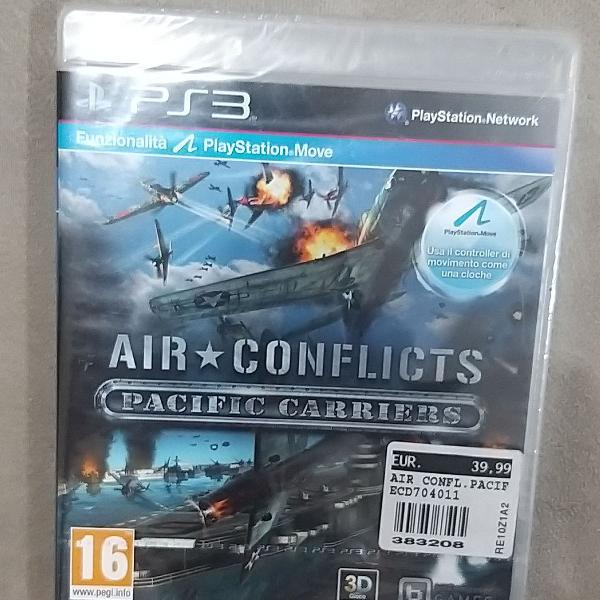 Jogo air conflicts pacifique carrieirs - ps3,. jogo de nave