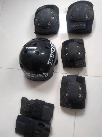 Kit proteção skate ou patins tamanho m