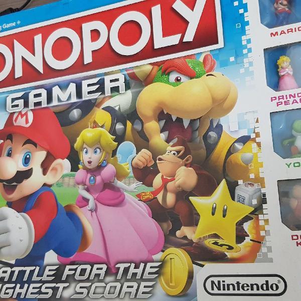 Monopoly mario gamer jogo de tabuleiro - edição de