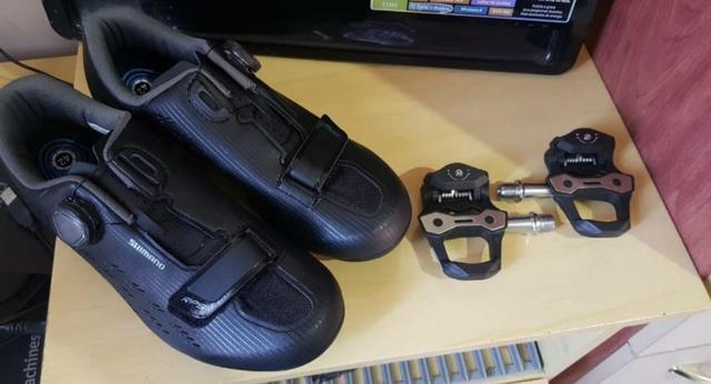 Sapatilha + pedal clip para speed