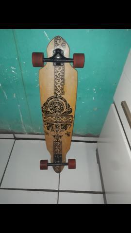 Skate longboard comprado na us board séries