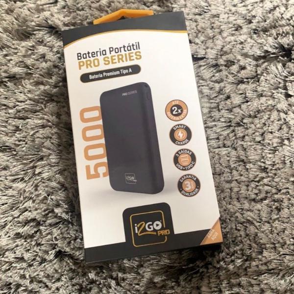 Bateria portátil pro series premium com cabo carregador
