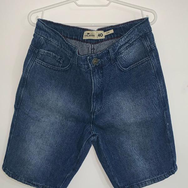 Bermuda jeans azul pool