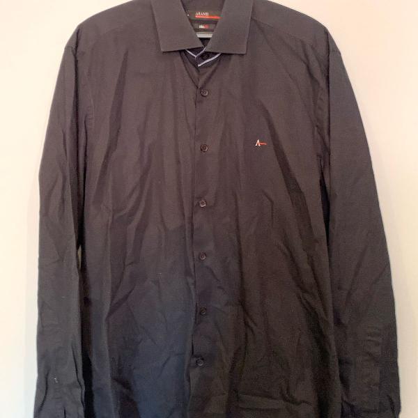 Camisa aramis tamanho p cor preta