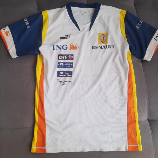 Camisa oficial da equipe renault fórmula 1 - f1 oficial