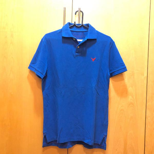 Camisa polo azul escura da american eagle