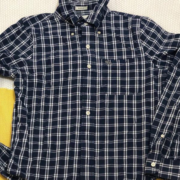 camisa xadrez abercrombie