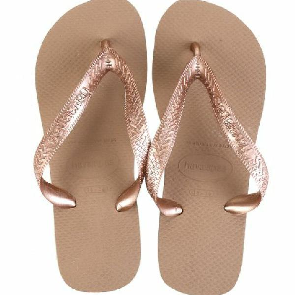 Chinelo havaianas top bege