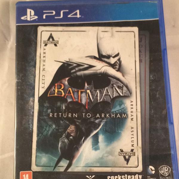 Dois jogos ps4 - batman return to arkham