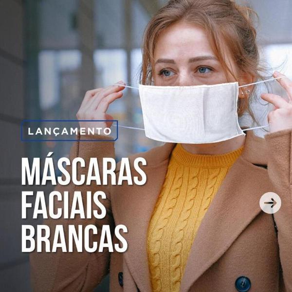 Kit mascara de tecido para proteção facial