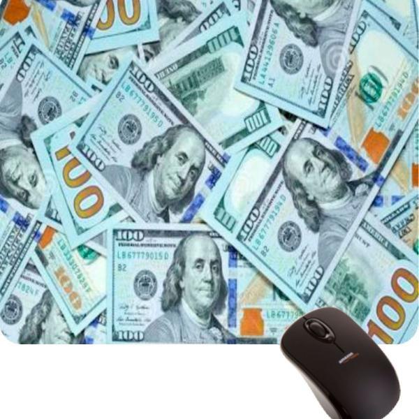 Mouse pad gamer dólares engraçado divertido