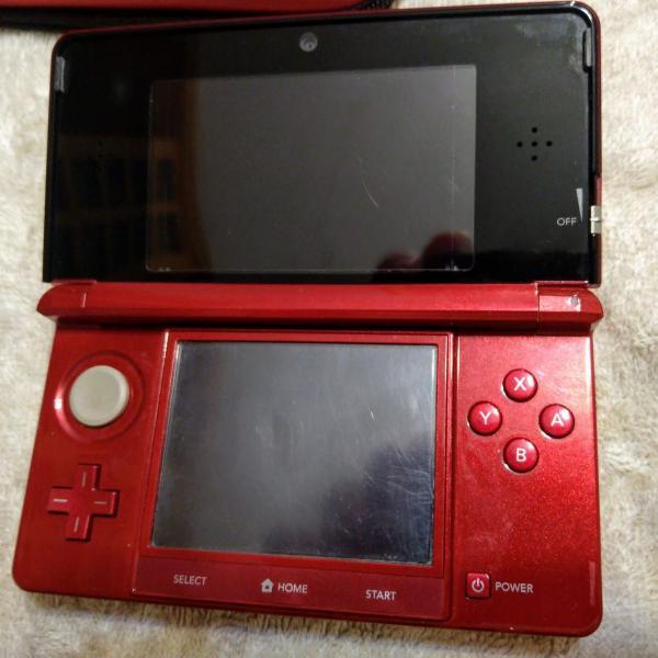 Nintendo 3ds vermelho flame red, original não desbloqueado