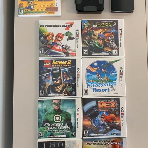 Pacote heróis - ds 3d - 8 jogos usados e 1 lacrado- não