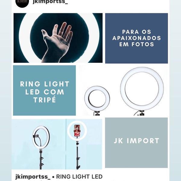 Ring light led com tripé