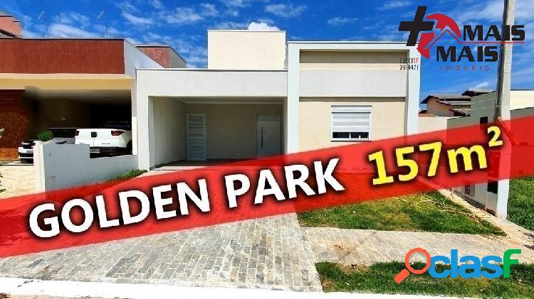 Casa 3 dorm com suite condominio golden park-hortolandia