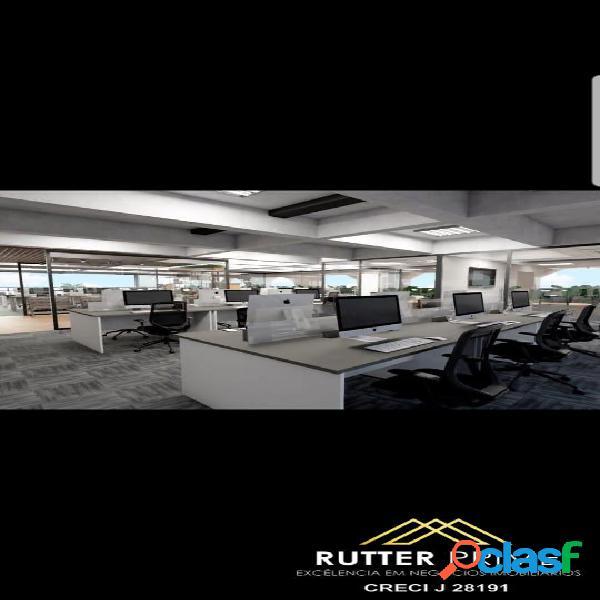 Laje comercial mobiliada, locação, 250m², 4 vagas, no itaim bibi