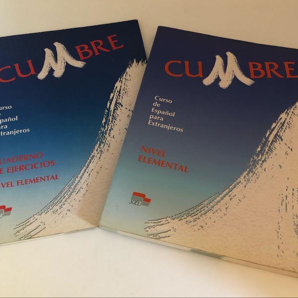 2 livros de curso de espanhol para estrangeiros