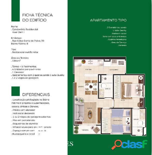 Apartamento bairro Fátima 3 2