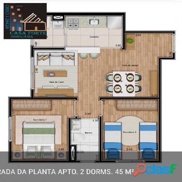 Apartamento villa verde atua zl venda r$ 186.000,00