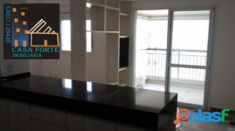 Apartamento studio semi mobiliado no cidade maia com terraço gourmet