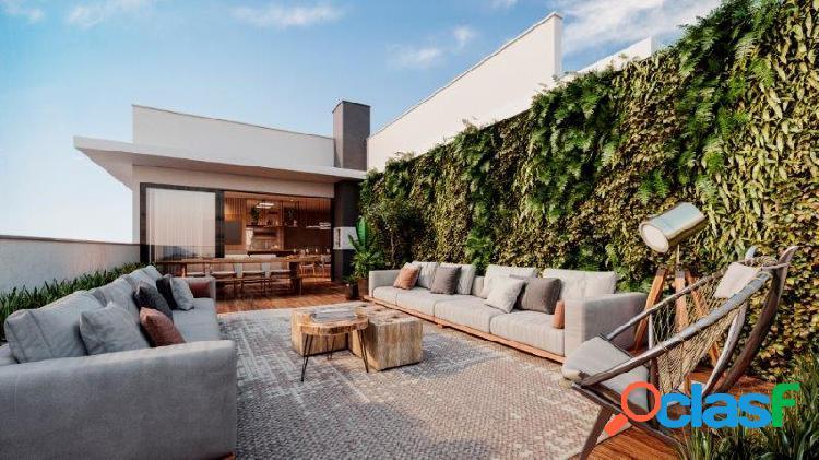 Cobertura duplex, 3 suítes com 144 m² sendo 19 m² de terraço e 3 vagas