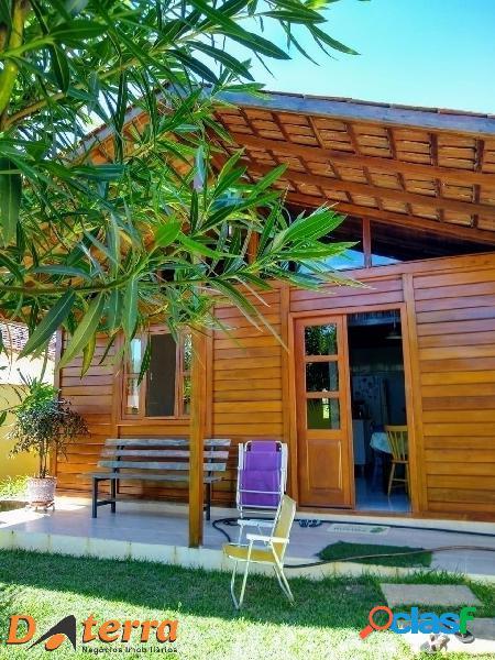 Incrível casa rustica com lazer em praia de santa mônica, guarapari es