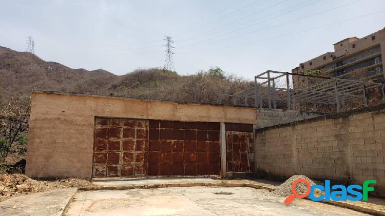 374mts - terreno con casa en construcción jardín mañongo de oportunidad