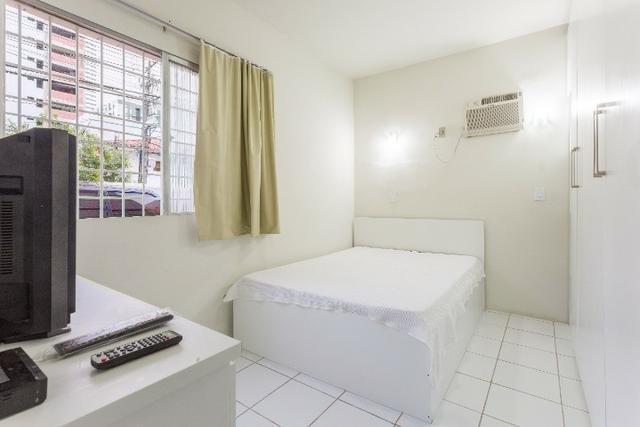 Apartamento 01 b, mobiliado, bairro de boa viagem,