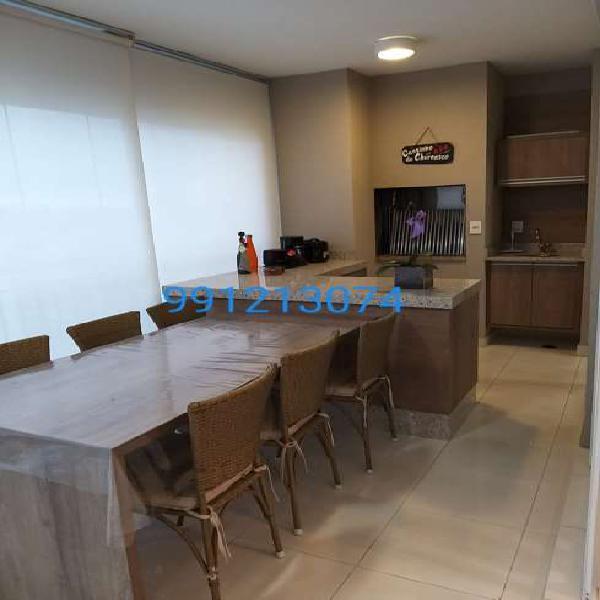 Apartamento mobiliado andar alto 147 m² varanda gourmet 3