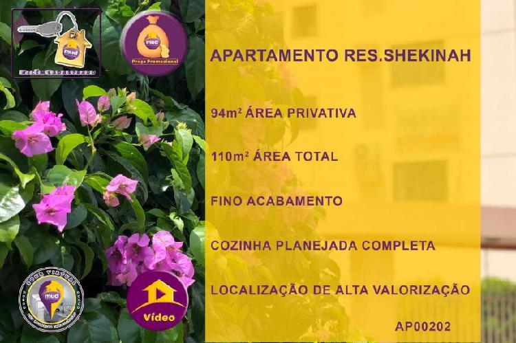 Apartamento no jd.américa em dourados com 3 quartos c/1