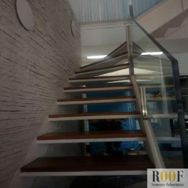 Cobertura duplex np paraíso com 118 m² sendo: 3