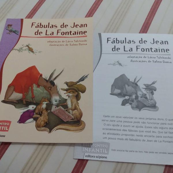 Livro fábulas de jean de la fontaine semi novo r$30
