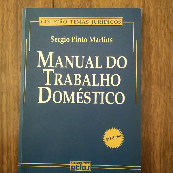 Livro jurídico manual do trabalho doméstico
