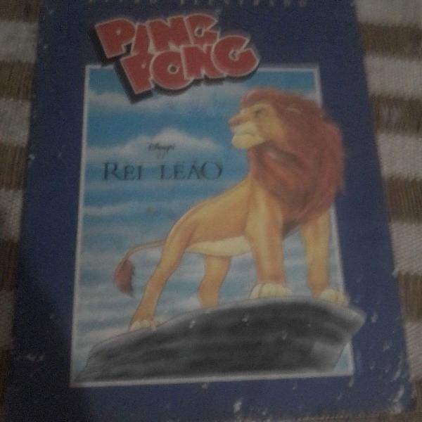Raro rei leão 1996 completo album de figurinhas ping pong