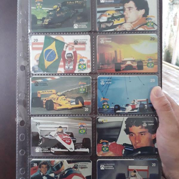 Série cartão telefônico ayrton senna do brasil raro