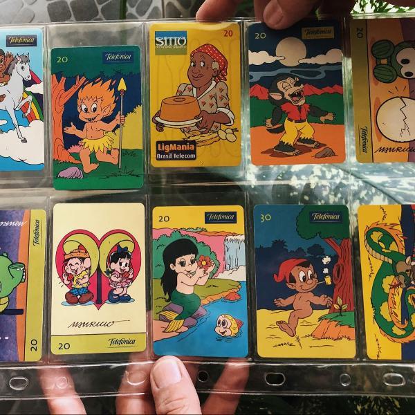 Cartões telefônicos folclore brasileiro, sitio do pica pau